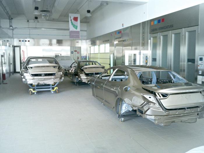 Verniciatura auto produzione serie, Maserati