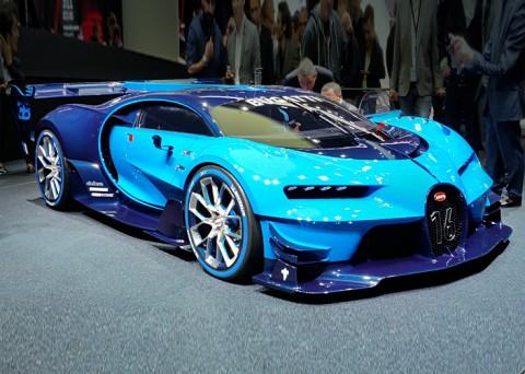 Verniciatura della Bugatti