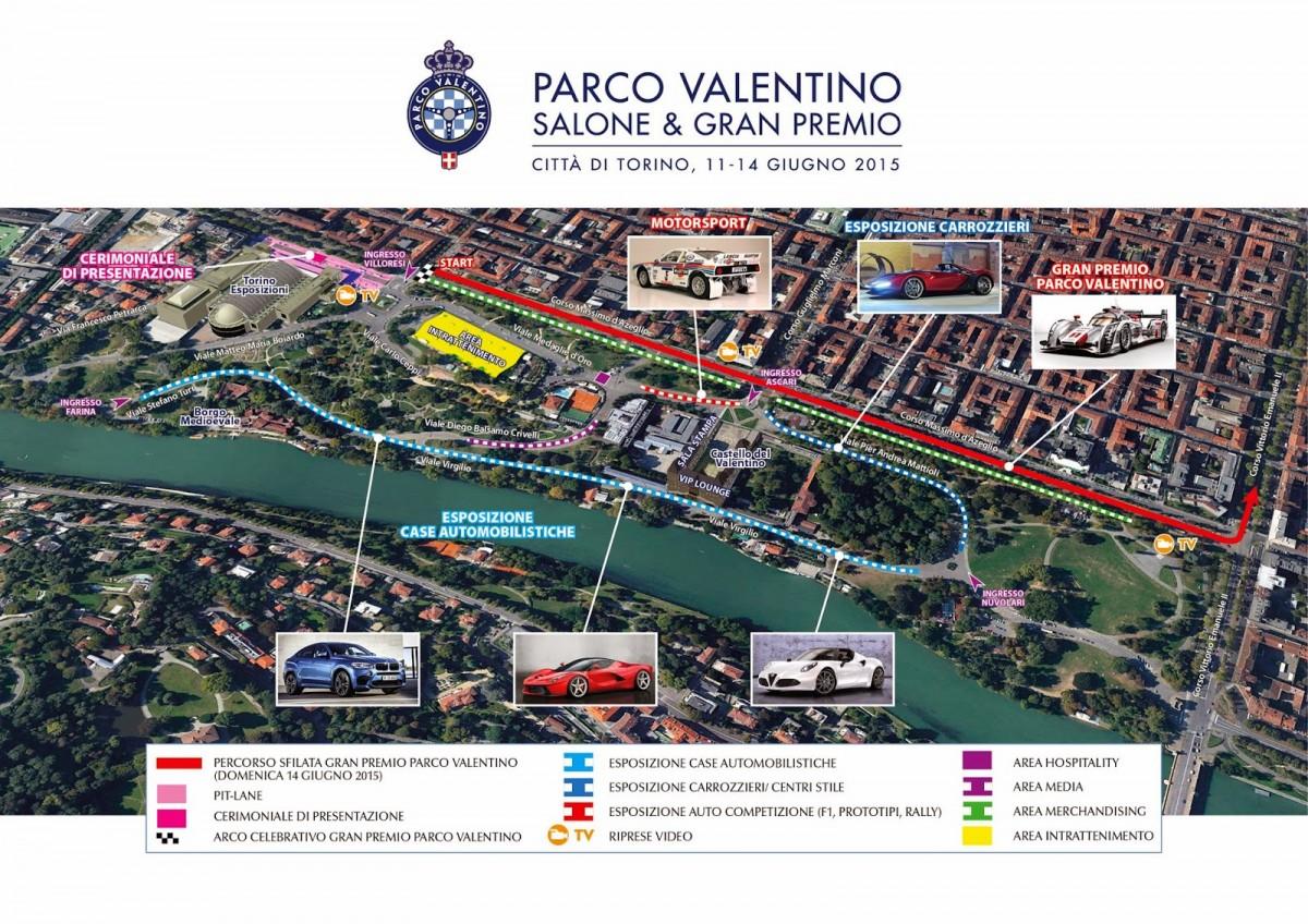 Parco Valentino, salone e gran premio